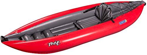 Gumotex Twist I 1 Personen Schlauchkajak aufblasbar Schlauchboot Ultraleicht, Farbe:Rot