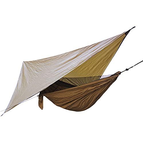 OKMNB Moskitonetz Hängematte Baldachin Set Zelt Outdoor Camping Freizeit Anti-Moskito Nylon Parachute Tuch Hängematte camel-360 * 290