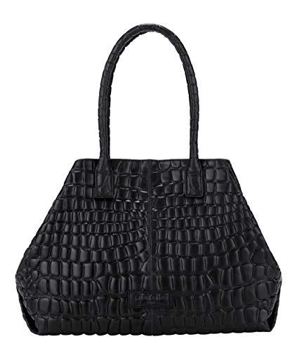 Liebeskind Berlin Damen Malibu L.A. Shopper Schultertasche, black-9999, 15x28x36 cm