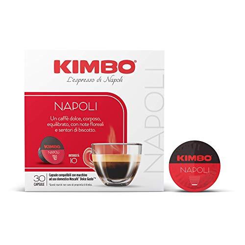 Kimbo Capsule Di Caffè Napoli Compatibile Con Nescafé Dolce Gusto (2 Pacchi Da 30 Capsule, Totale 60 Capsule) - 420 g