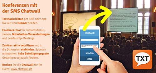 SMS Chatwall - Audience Response Tool für interaktive Konferenzen - mitdiskutieren per SMS, WebApp und Beamer - Teambuilding - Lizenz für 1 Event (48h)
