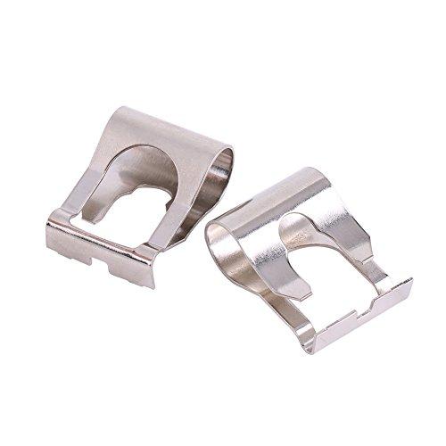 Nicoone 1 par de Varillas de Conexión de Motor de Limpiaparabrisas Kit de Clip de Reparación de Conexión de Brazos Clip de Conexión de Motor de Limpiaparabrisas de Metal