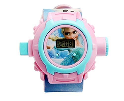 Nexxa Reloj de pulsera digital con proyector de 24 imágenes para niños, regalo de Navidad