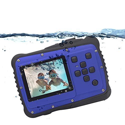 Cámara Digital para niños, Vmotal GDC5262 cámara Impermeable para niños con Pantalla LCD TFT de 2 Pulgadas, cámara Digital Impermeable de 8MP para niños Muchachos Muchachas Regalo Juguetes (Azul)
