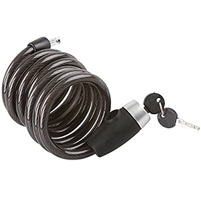 Rage Powersports 6 ft. Self-Coiling Cable Lock for Bicycles and Motorcycles