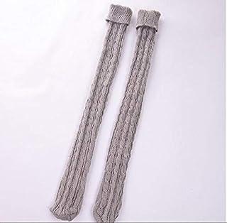Tivivose, Tivivose Giro en el tubo largo sobre la rodilla calcetines llenado for arriba calcetines de lana Calcetines invierno de las mujeres atractivo caliente de las lanas de la rodilla de punto de calentamie
