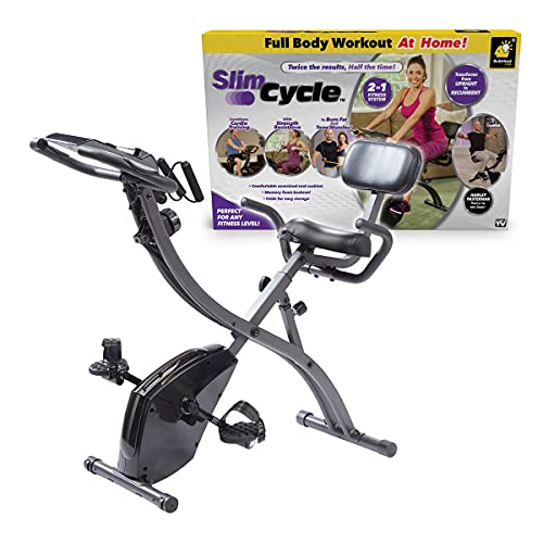As Seen On TV Slim Cycle Stationary Bike by Bulbhead, Most Comfortable Exercise Machine, Thick,...