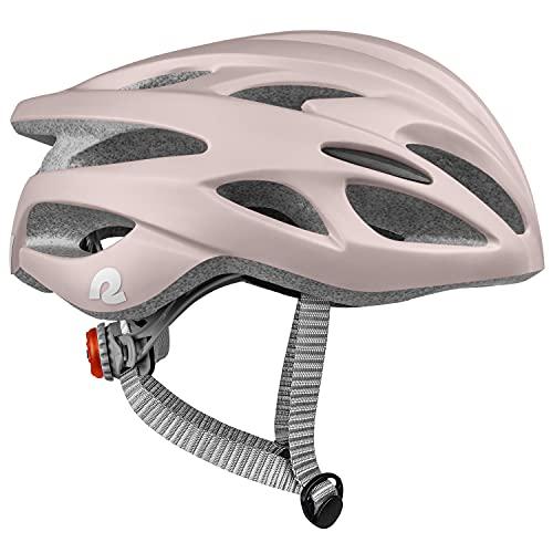 Retrospec Silas Adult Bike Helmet with Light for Men & Women - Lightweight, Comfortable, Matte Desert Rose