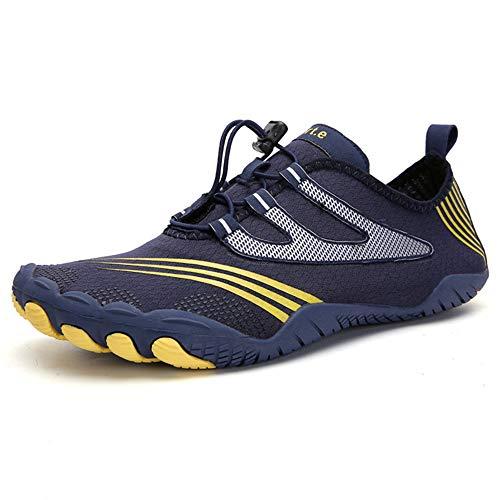 Zapatos Agua, Zapatos De Natación para Hombres Y Mujeres, Zapatos De Piscina Playa, Zapatos para Caminar con Punta Ancha, Zapatos para Nadar, Ejercicio De Yoga para Caminar,Azul,35