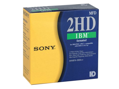 "Sony 10MFD 1.44MB 3.5"" Dos, 10pk 1.44MB - Disquetes (10pk, 1,44 MB, 8-88%, 10-60 °C, 8-90%)"