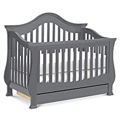 This image shows Million Dollar Baby Classic Ashbury 4-in-1 that is one of the best cribs with storage underneath in my review