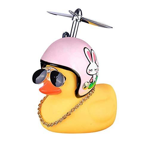 Duck Bike Bell, Gummiente Cute Kids Bike Horn Propeller Lenker Fahrradhörner Fahrradklingel Zubehör für Kinder Kleinkind Kinder Erwachsene Sport Outdoor