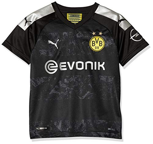 PUMA Jungen BVB Away Shirt Replica Jr Evonik with OPEL Logo Trikot, Black, 140