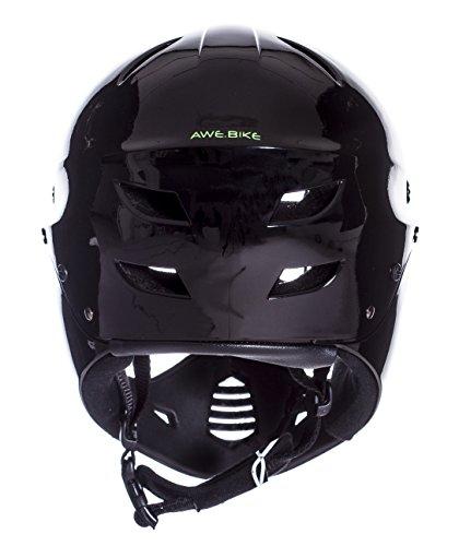 AWE® BMX Full Face Helm schwarz, Größe M 54–58 cm - 4