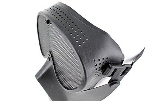 D-drempatingサバイバルゲームオリジナルミリタリーフルフェイスマスクサバゲー必需品広範囲ガードマスク(ブラック)pa108
