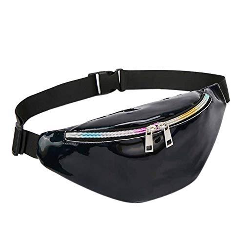 Memefood Bolsa De Cintura De Láser Riñonera De Moda