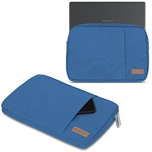 UC-Express Notebook Tasche kompatibel für Medion Akoya E11202 11,6 Zoll Hülle Schutzhülle Schwarz/Grau/Blau Cover Hülle, Farbe:Blau