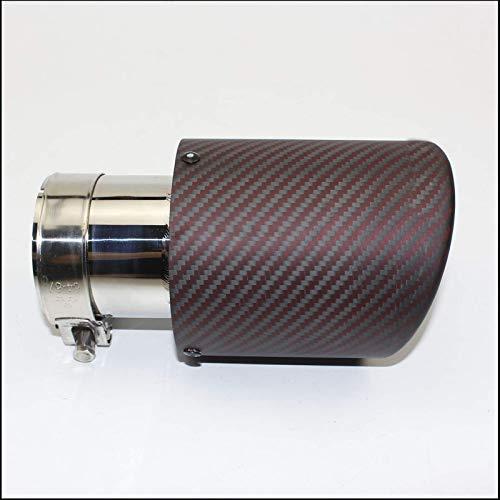 Autoteile Auspuff Heck Hals matt Carbonfaser Mattrot Locke (1 STÜCK)