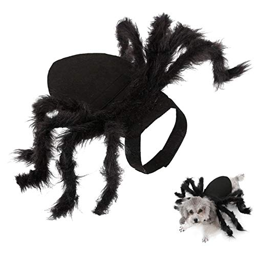 Halloween Spider Pet Costume, Halloween Cosplay Costumes for Dog, Cats Dress Party Dress Up Horror...