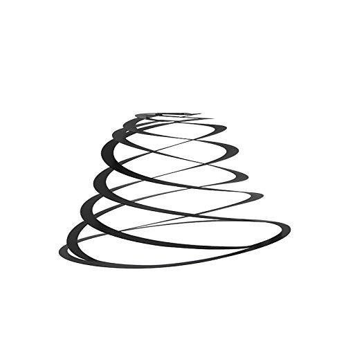 QAZQA Stalen lampenkap zwart 50 cm - Spiraal,