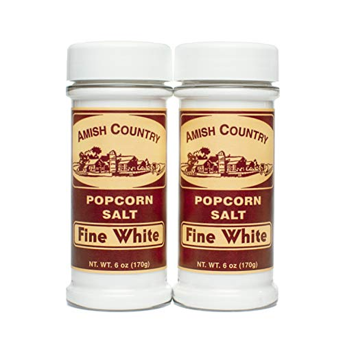 For Sale! Amish Country Popcorn | 2 - 6 oz Bottles | Fine White Popcorn Salt | Old Fashioned with Re...