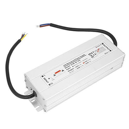 Transformador LED, controlador LED 12V / 24V 250W Fuente de alimentación LED IP67 Transformador LED Fuente de alimentación de tira de luz LED impermeable(24V 10.4A HRW-24V250W)