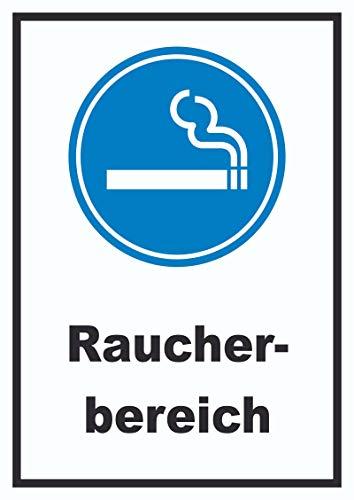 HB-Druck Raucherbereich Schild A4 (210x297mm)