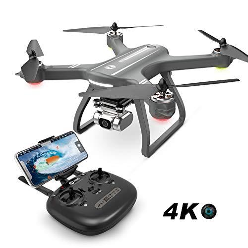 Holy Stone ドローン カメラ付き GPS搭載 4K広角HDカメラ ブラシレスモーター付き フライト時間22分 自動航行 オートリターンモード フォローミーモード 自動的に高度維持 2.4GHz 国内認証済み HS700D (グレー)