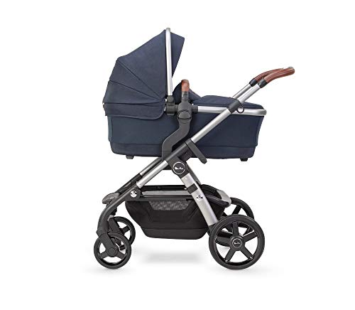 Silver Cross Wave 2020 Fully Adjustable 2-In-1 Tandem Baby Pram and Pushchair, Converts From Single to Double Buggy – Indigo