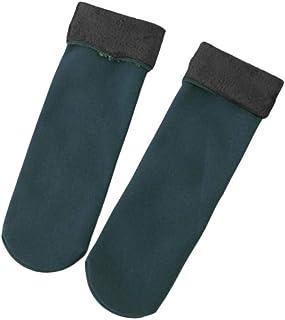 Calcetines de Invierno para Mujeres, Calcetines de Engrosamiento de Terciopelo para Damas/niñas Calcetines Casuales caseros para el Piso, Calcetines térmicos de Nieve para Dormir Fine