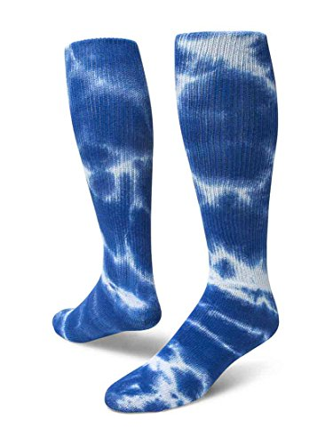 Red Lion Revolution Tie Dye Cotton Athletic Tube Socks ( Royal Blue Tie Dyed - Small )