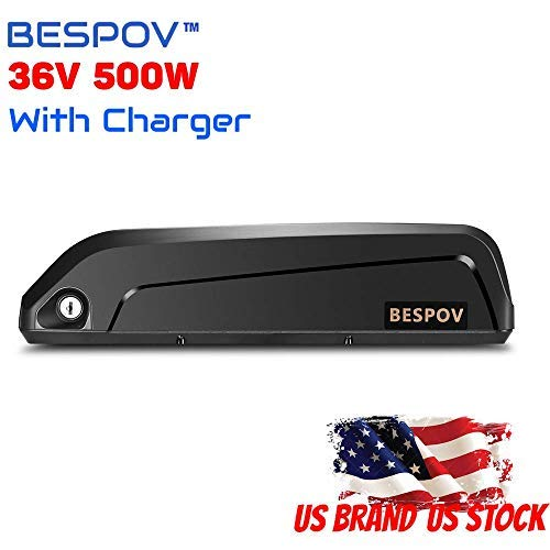 Bespov 48V/36V 10Ah E-Bike Battery Lithium Li-ion Electric Bicycles Battery for 250w-500W Motor … (36V10Ah)