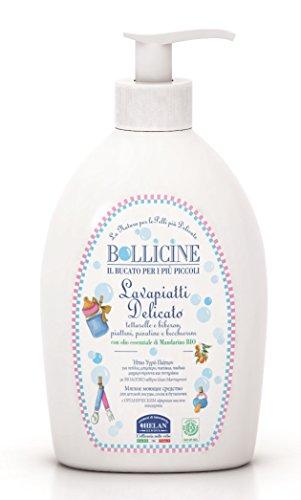 Bollicine Baby Bottle Plate Teat Wash Eco Organic Dermatology Tested Vegan 400ml (Single)