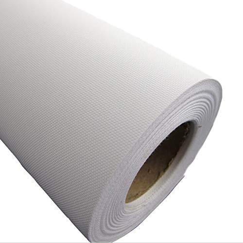 Lienzo de 240 g/m², 100 % algodón, 0,6 m x 30 m, lienzo en rollo, pre-imprimado, muy resistente