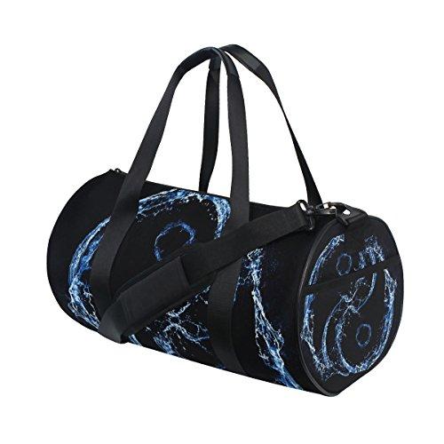 jstel Tai Chi Bagua Yin Yang Spray AIT bolsa de deporte gimnasio para hombres y mujeres bolsa de viaje de viaje