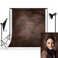 UrcTepics 1.5x2.2m ブラウン 背景布 ダークブラウン ビンテージ 背景 茶色の背景 ポートレート 撮影用 背景布 カスタマイズ可能な背景