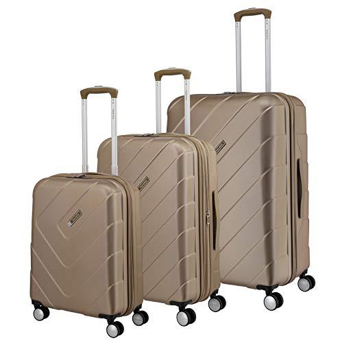 """Travelite Hartschalen-Koffer-Serie """"KALISTO"""" von travelite in 4 Farben: topmodisch, elegant, robust, 76 cm, 216L, Champagner"""