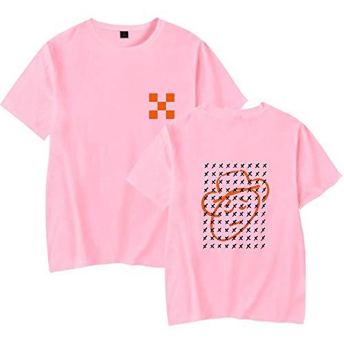 Camiseta de Manga Corta Unisex de Verano Camiseta Lisa con Cuello Redondo Divertido de Lil NAS X X