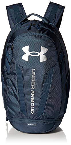 Under Armour Adult Hustle 5.0 Backpack , Mechanic Blue (467)/Metallic Silver , One Size Fits All