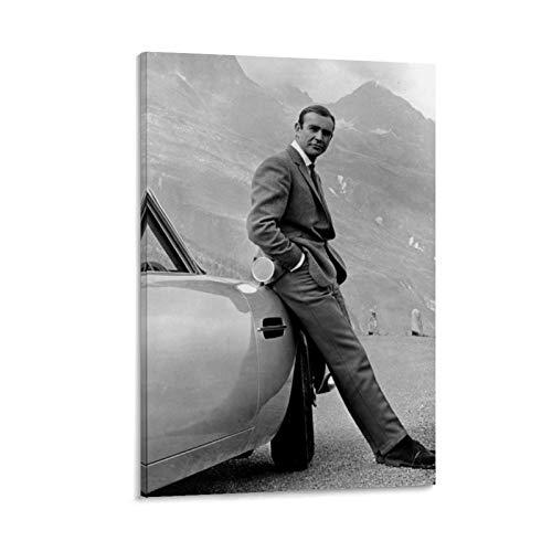Sean Connery James Bond 007 - Poster 5 poster decorativo su tela, per soggiorno, camera da letto, 30 x 45 cm