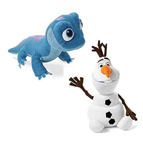 2 unids congelados 2 muñeco de nieve Olaf Fire Lizard Fever Fiebre Fiebre Elfe Anna Elsa Peluche de peluche Muñeca princesa Peluche Muñeca para niños