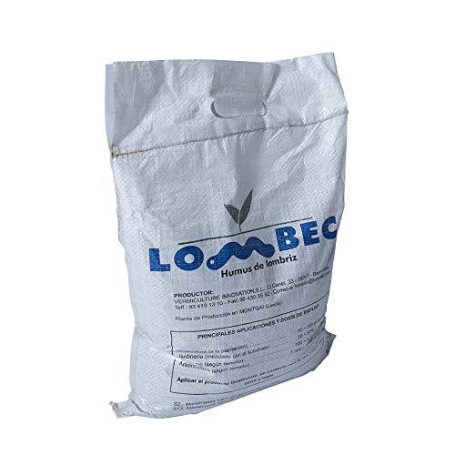 LOMBEC Humus de Lombriz, Saco 4Kg (6L). Fertilizante orgánico, vermicompost 100% Natural....