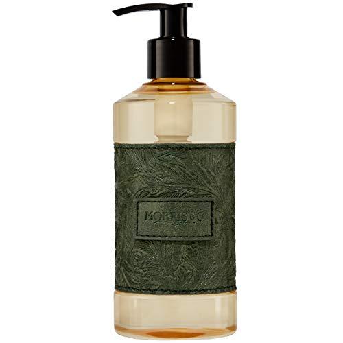 Morris & Co. - Dispenser per sapone mani scamosciato e ambra, con estratto di aloe, 300 ml, colore: verde