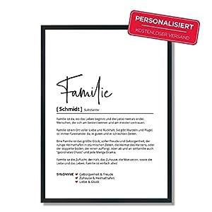 Familie Definition   Personalisiertes Poster   Familiennamen   Geschenk   Geburtstag   Einzug   Weihnachten   Danke…
