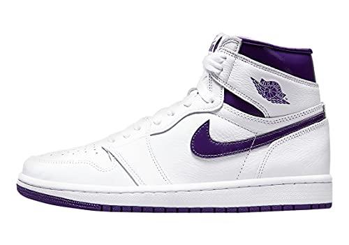 Jordan 1 High OG Court Mujeres Púrpura Blanco/Court Purple (CD0461 151) -, Blanco/Púrpura, 42 EU