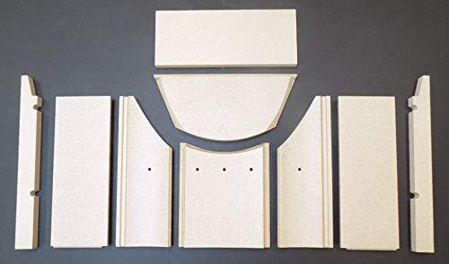 Feuerraumauskleidung für den Jydepejsen Cubic Kaminofen - Vermiculite - 9-teilig