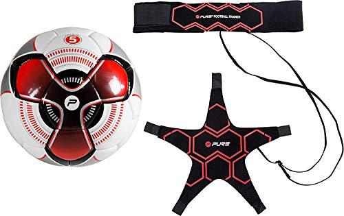 Pure 2 Improve Solo Fußball Rebound Trainer mit verstellbarem Hüftgürtel für Kinder und Profis - Mit Ball Größe 4