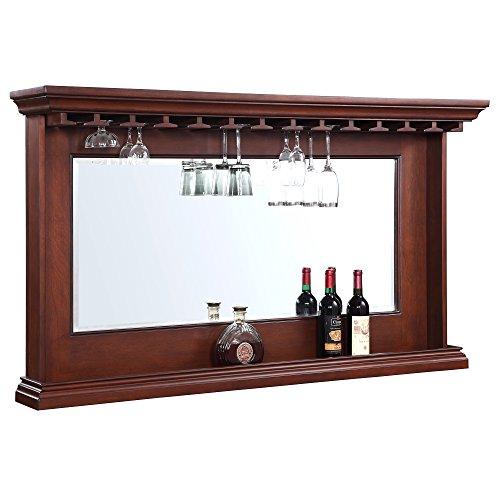 Hathaway Seville Back Bar Mirror Walnut, 62' x 35.5'
