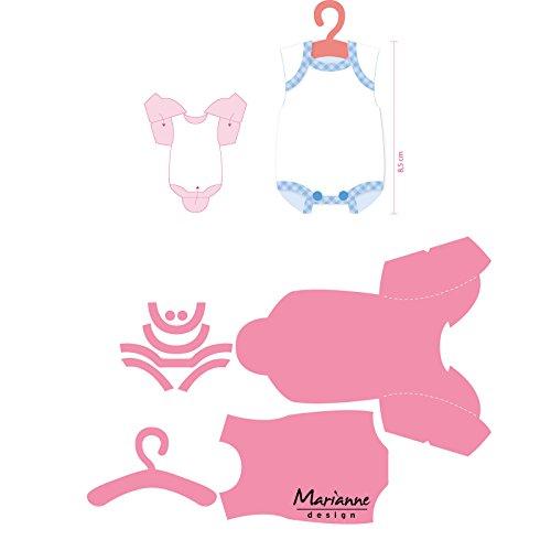 Marianne Design Collectables Eline's Baby Onesie Die, 21.1 x 15.4 x 0.1 cm, Pink