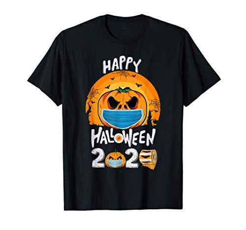 Happy Halloween Quarantine 2020 Pumpkin In Face Mask Vintage T-Shirt